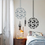 Modern Decals, Circles of life Chakra Vinyl Wall Decals with Hanging Chain - Globe circular round decoration Wall Decal