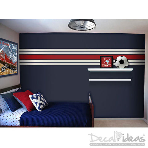 Wall Stripes Vinyl Wall Decals - Wall Runner Wall Decal Sticker - Wall Pattern Vinyl Wall Sticker - Customized