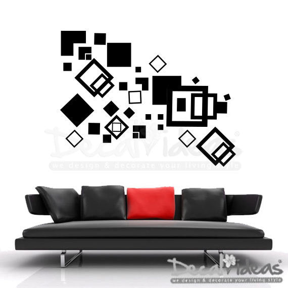 Geometric Wall Decal -  Wall Art Sticker D-50094-D
