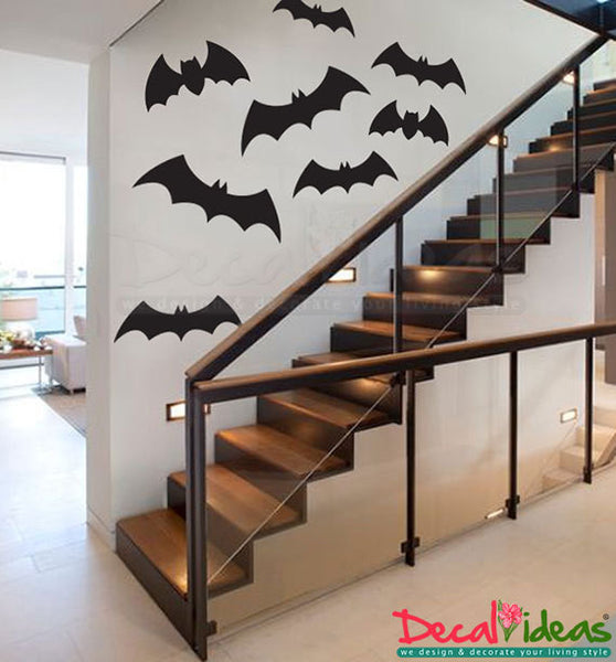Halloween Decor, Bat Wall Decals ,Bat Decal Set, Halloween Decorations, Halloween Wall Decals,Halloween Bats ,Bat Vinyl Decals, Wall Decals