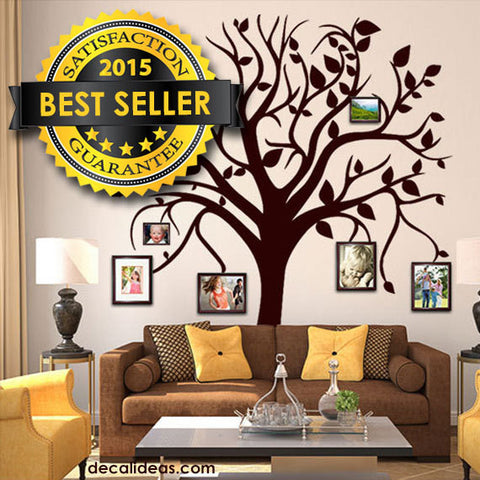 Family Tree Wall Decal - tree wall decal - tree decal - wall decals - wall decals for living room - wall decals for bedroom D-50099-D