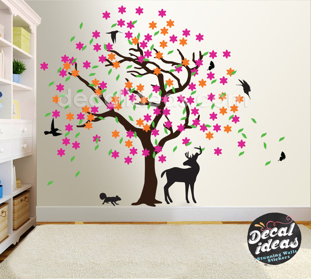 Tree Wall Decal for Nursery Peel and Stick Custom Wall Decals - Decalideas Wall Decals