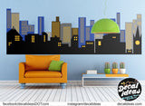 City Wall Decal, Skyline wall Decal, City wall Decal, Super hero Decal, Boys Room wall decal, Nursery wall Decal