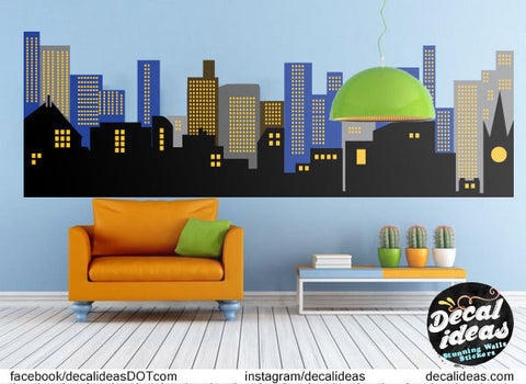 Gotham City Wall Decal, Batman Wall Decal, Skyline Wall Decal, City Wall  Decal Part 68