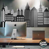 New York City Skyline Wall Decal - New York Skyline - Skyline Decal - New York Silhouette - New York City Decal - Printed Wall Sticker, NY01