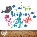Alphabet Name Sea wall decal
