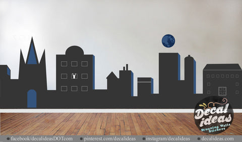 City Skyline Wall Decal, sh19_1