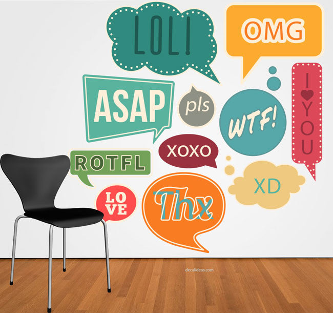 Speech bubble Wall Decals for kids - dorm room decor -dorm room decoration - dorm room idea - school - class decor idea -nursery wall decal - Decalideas Wall Decals
