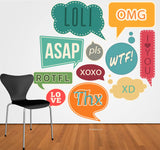 Speech bubble Wall Decals for kids - dorm room decor -dorm room decoration - dorm room idea - school - class decor idea -nursery wall decal