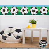 Wall Stripe Decal, Soccer Wall Panel Decal, Football Decal Stripe, Soccer Border decal Sticker - Sports wall panel decals TA111 - Decalideas Wall Decals