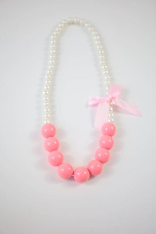 Candy Colour Pearl Necklace Pink
