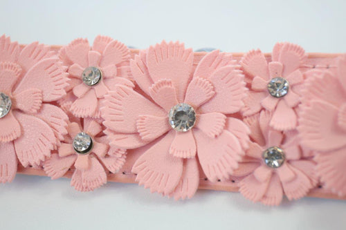 Girls Dress belt with Flowers and Diamantes