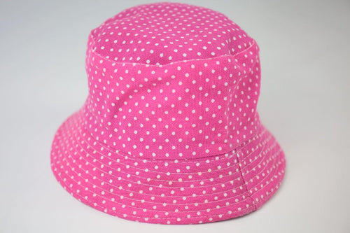 Polka dot Bucket Hat - Bubblegum