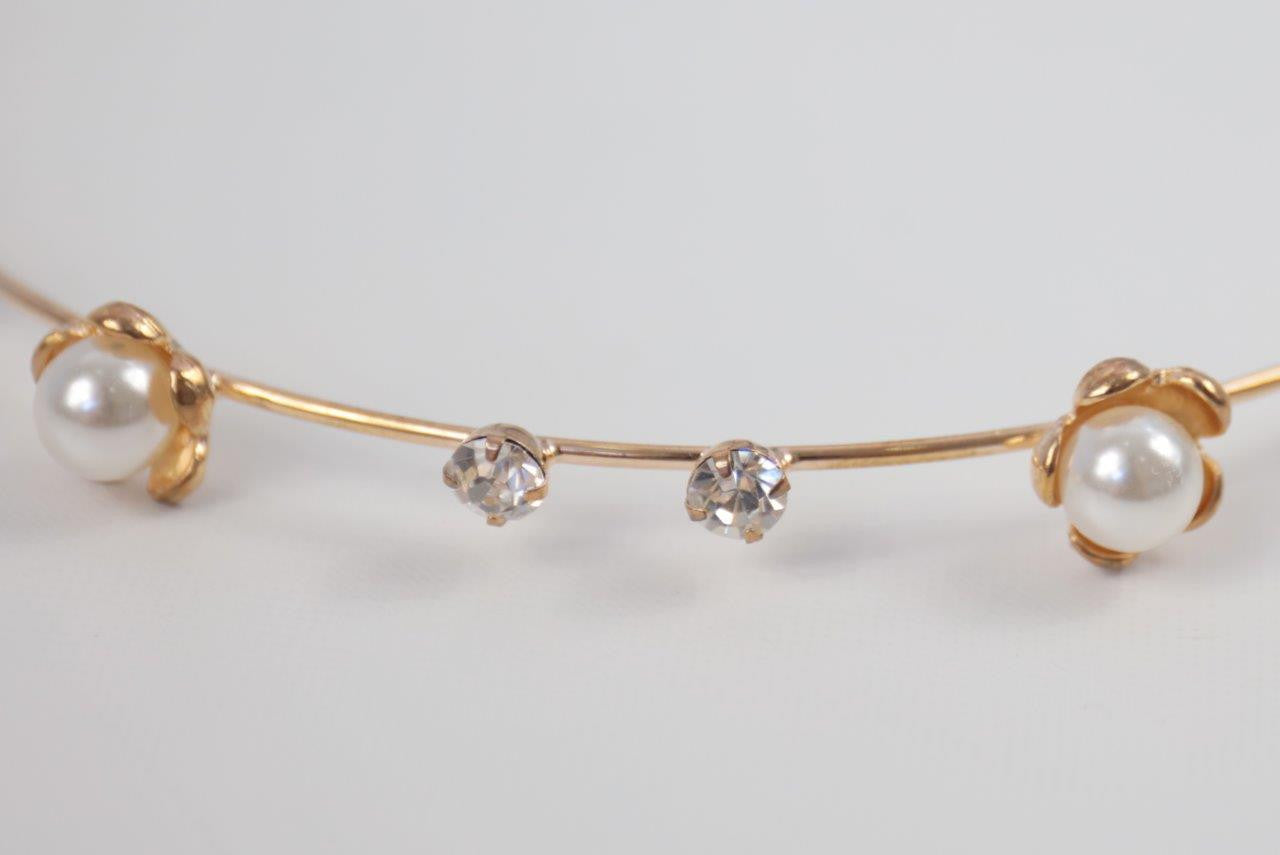 Pearl & Diamante Rose Gold Headband