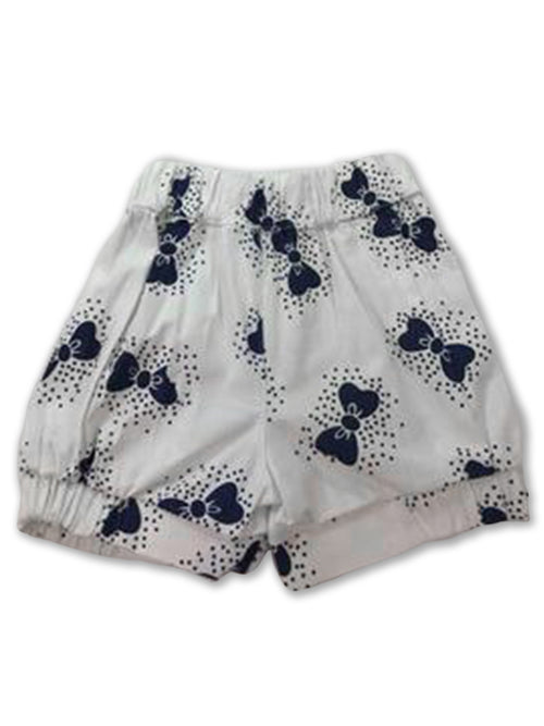 Lucy Bow Bloomer Shorts - Ink