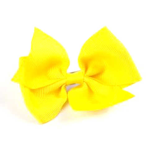 Hair Bow Yellow