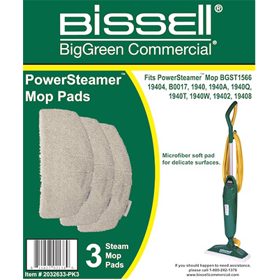 2032633-PK3 Microfiber Power Steamer Mop Pad