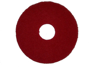 "BISSELL BigGreen Commercial 437.055BG Polish Pad for BGEM9000 Easy Motion Floor Machine, 12"", Red, Case of 5 pads"