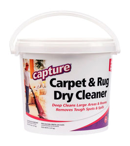 Capture Carpet Dry Cleaner Powder 8 Pound - Resolve Allergens Stain Smell Moisture from Rug Furniture Clothes and Fabric, Mold Pet Stains Odor Smoke and Allergies Too