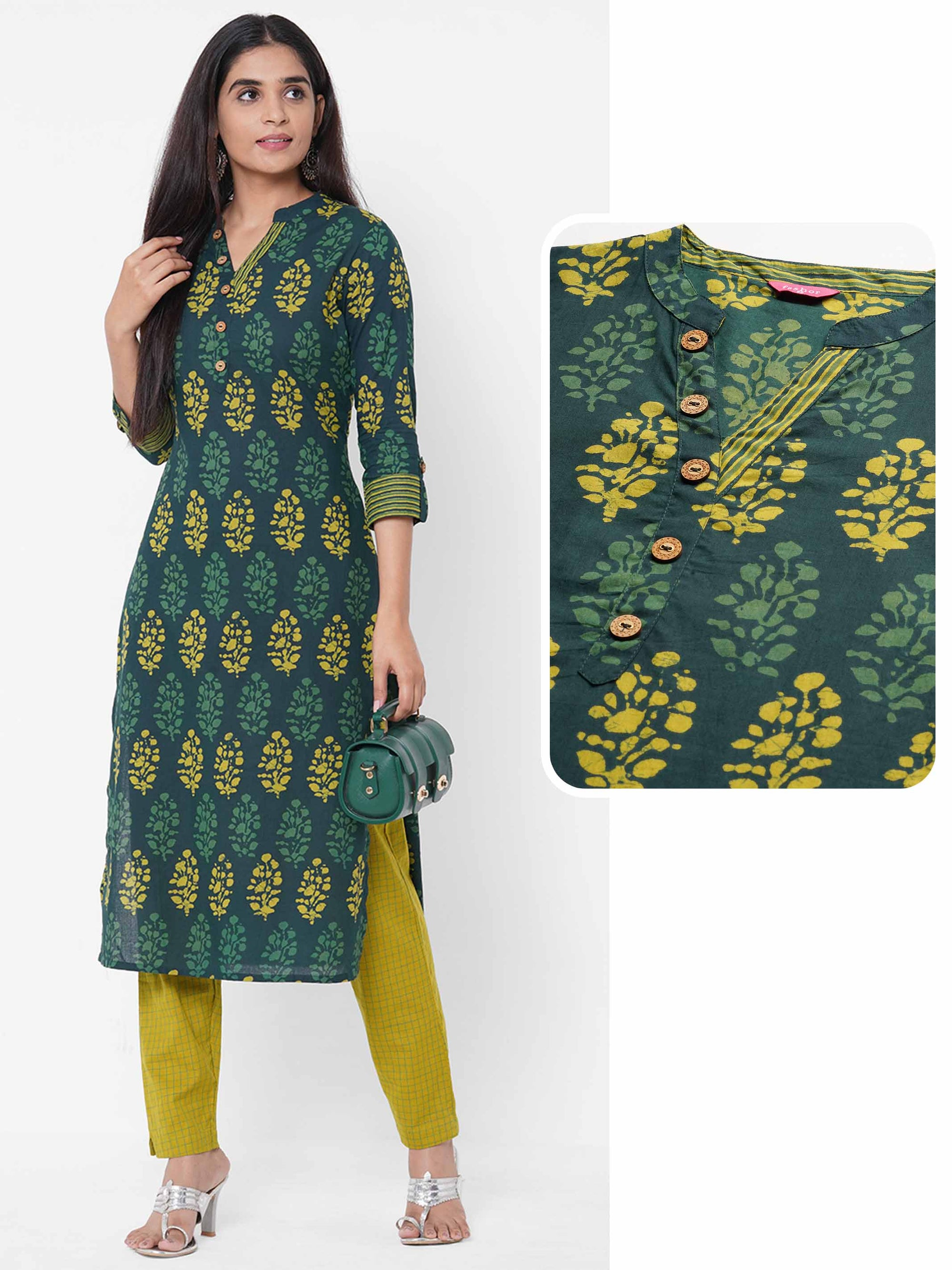 Floral Mix printed Straight Kurta – Multi