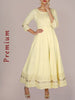 Gota Lace Ornamented Cotton Anarkali Kurti