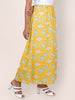 Ethnic Buta Pigment Printed Panelled Cotton Palazzo - Yellow