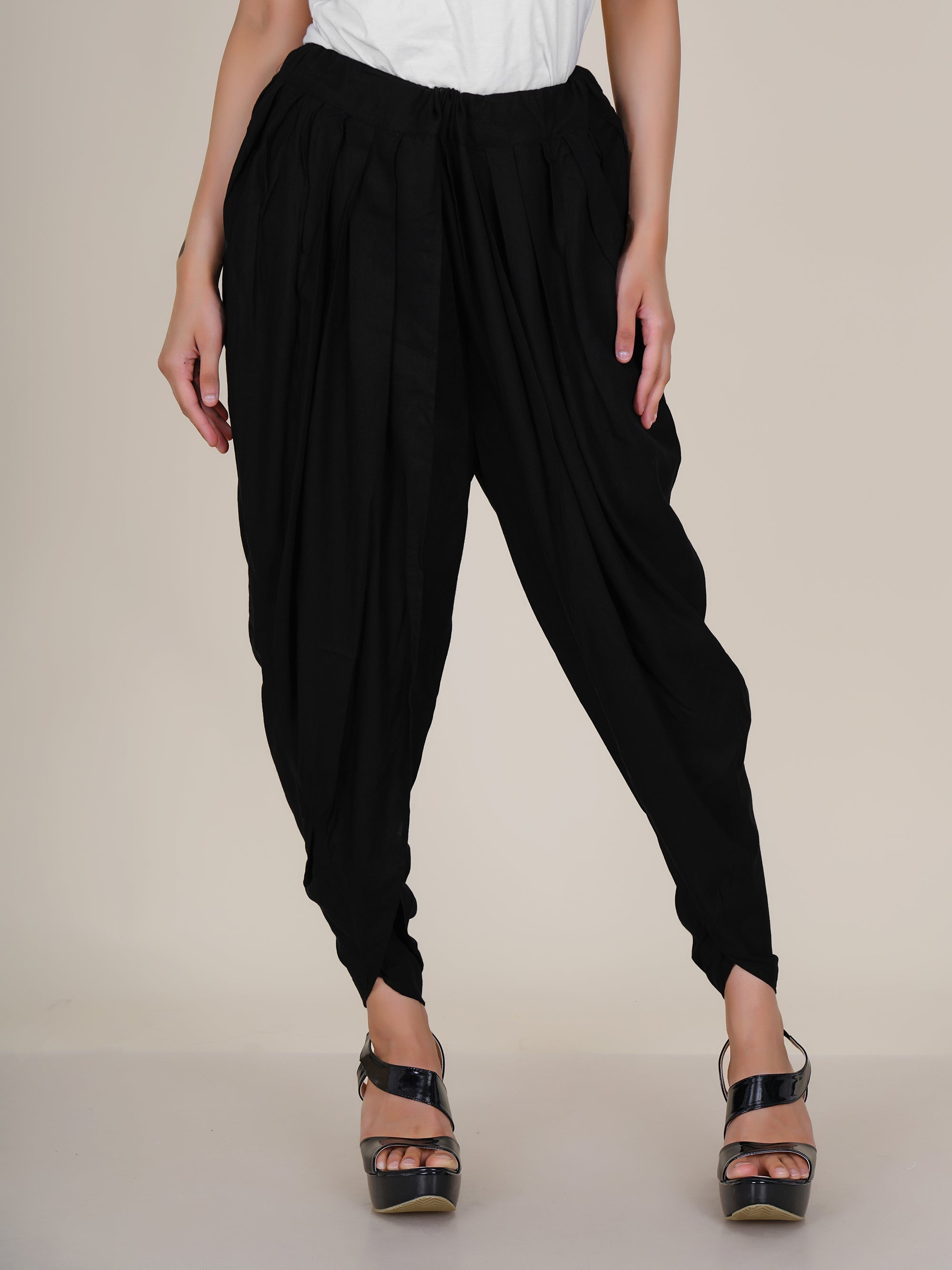 Dhoti Pants - Black