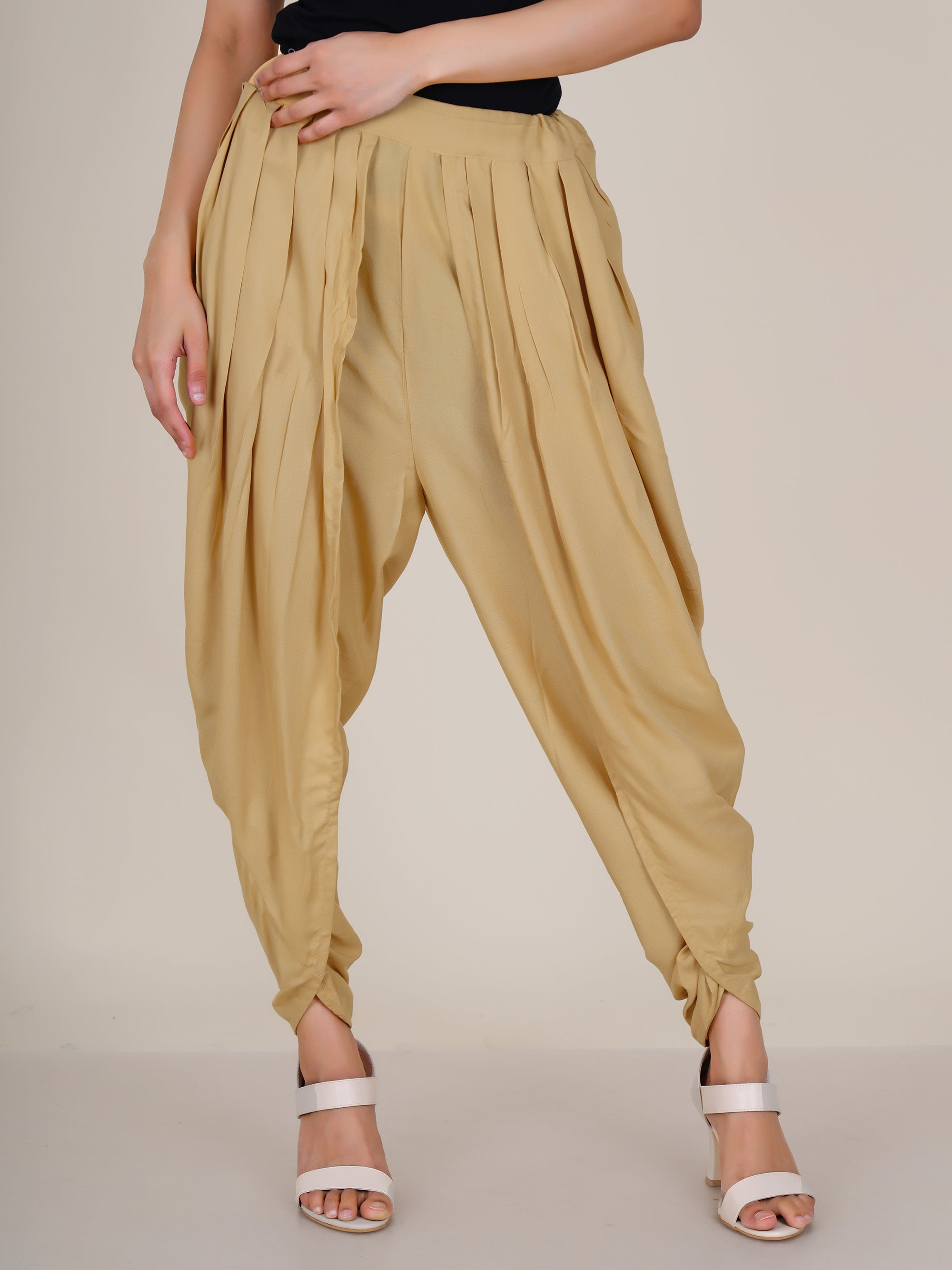 Dhoti Pants - Yellow