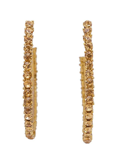 Ad-Stone Studded Danglers