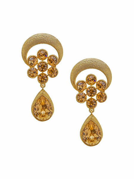 Chic Pear Ad-Stone Drop Earrings