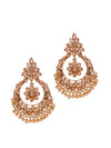 Floral Ad & Pearl Drops Chandbali Earrings