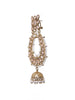 Ad-crystal & Pearl Studded Jhumki Drop Earrings