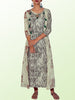 Musical Printed Jacket Style Layered Cotton Kurti