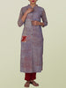 Applique & Resham Work Chequered Texture Print Cotton jacquard Kurti