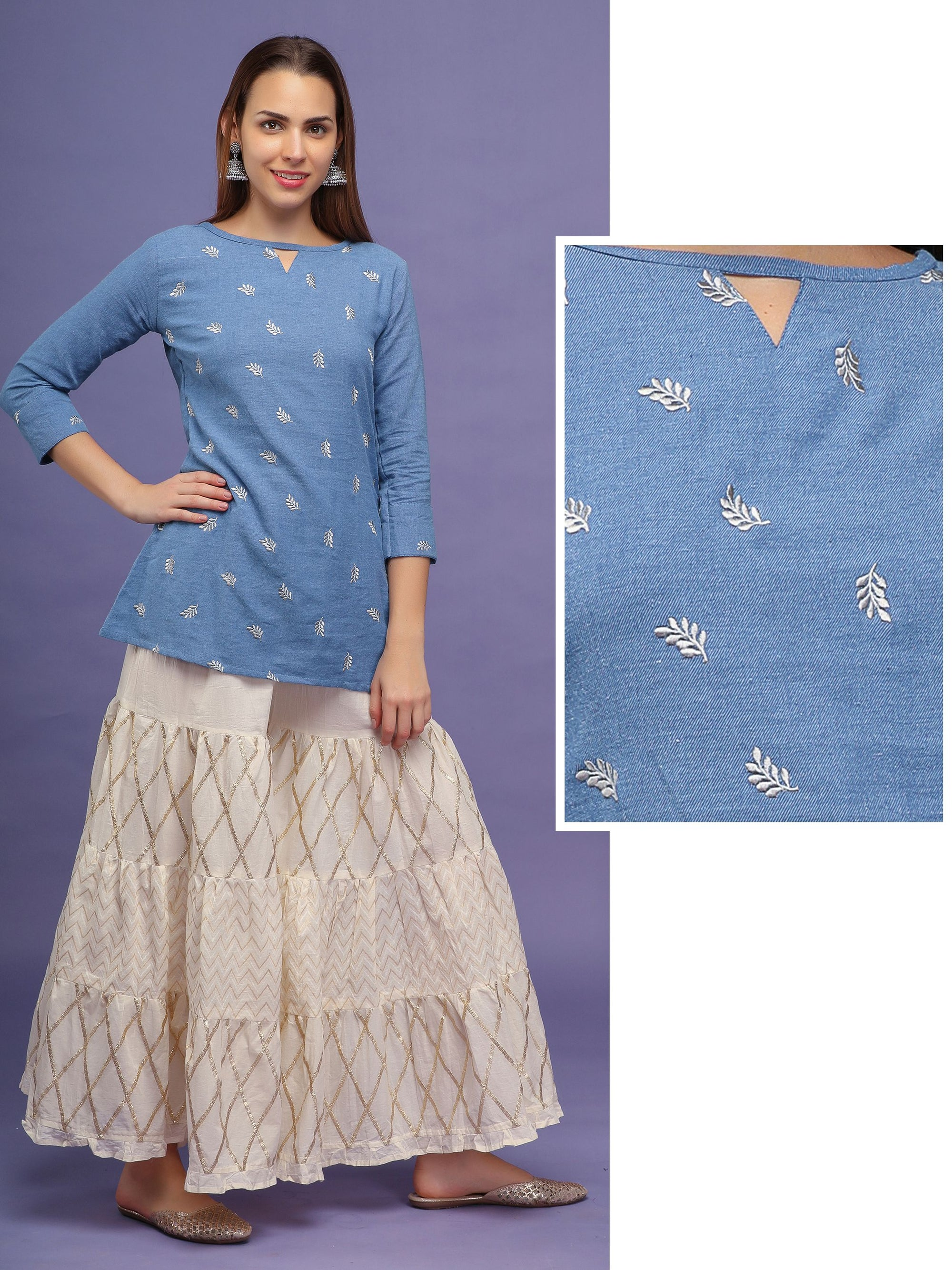 All over Embroidery Kurti