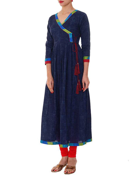 Angarakha Style Gathered Cotton Kurti