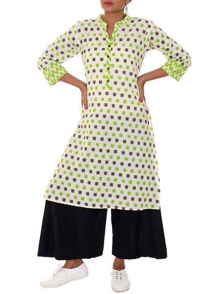 Geometric Printed Cotton Kurti