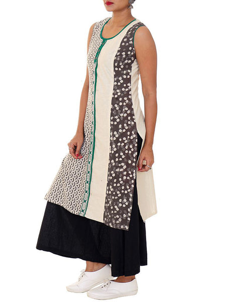 Geometric Resham Work Cotton Kurti