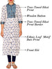 Ethnic Printed Panelled Cotton Kurti