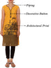 Architectural Print Cotton Kurti - Yellow