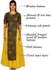 Braided Tasselled Printed Cutaway Jacket & Tiered Cotton Kurti