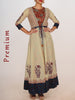 Kalamkari Cotton Kurti & Resham Work Block Print Kota Jacket & Beads