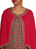 Pompom & Potli Latkan Cape With Floral Print Cotton Kurti