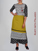 Mother-of-Pearl Button & Tasselled Cotton Kurti & Printed palazzo Set