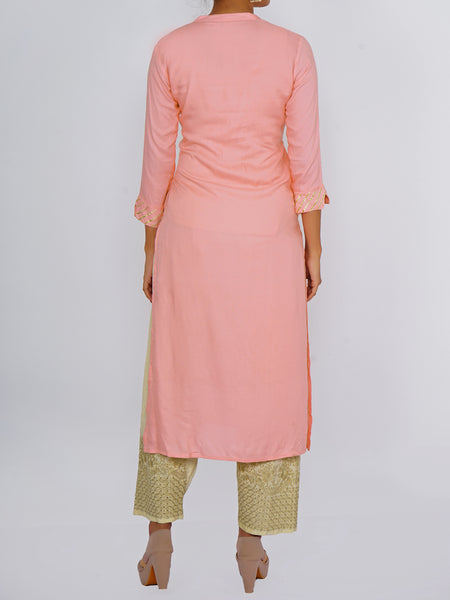 Golden Gota Lace Work Kurti