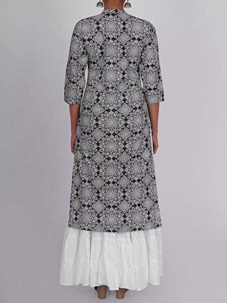 Pigment Printed Ethnic, Paisley & Floral Cotton Kurti