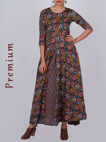 Resham & Zari Work Reversible Waistcoat & Double Layered Cotton Kurti