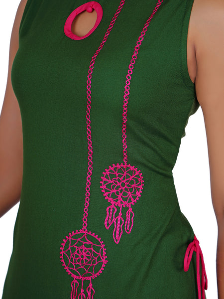 Resham Dream-Catcher Buta Work Kurti