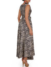 Sequins, Beads & Pipe Embossed Work Abstract Busy Printed Kurti