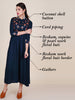 Floral Resham, Sequins & Pearl Buti Work Gathered Kurti
